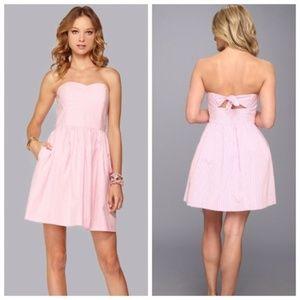 Lilly Pulitzer Richelle strapless pink dress sz 4